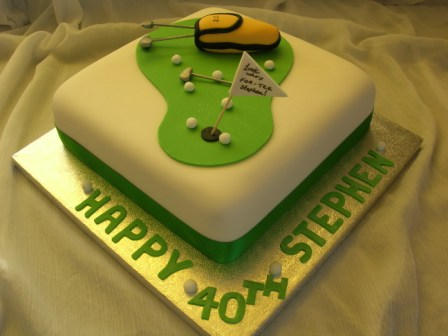Golf cake - look who's for-tee!