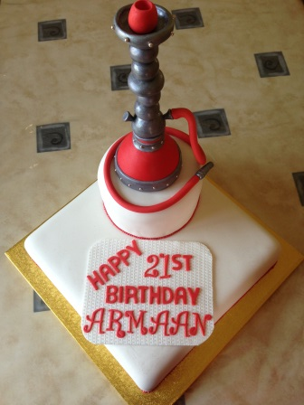 Sheesha pipe cake