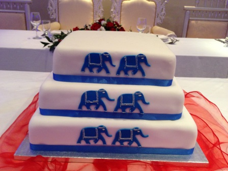 Elephants wedding cake