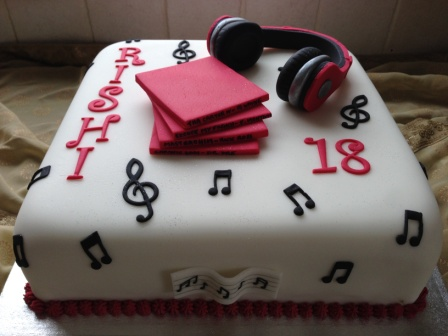 Rishi's 18th birthday cake