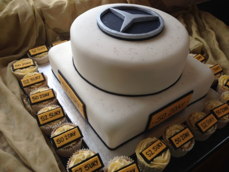 Photo gallery cakes for Mercedes benz cake design