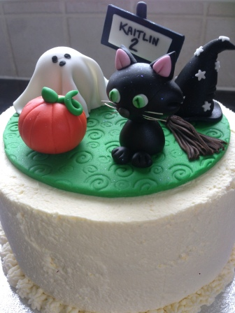 Halloween themed 2nd birthday cake