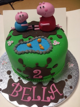 Peppa Pig cake for Bella