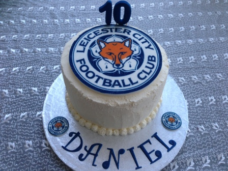 Leicester City birthday cake