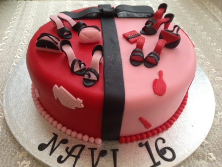 16th handbag & shoe cake for Navi
